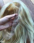 Перука от естествен косъм - светли цветове - равен път - 61 см